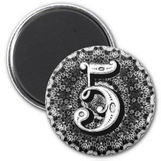 Number 5 magnet