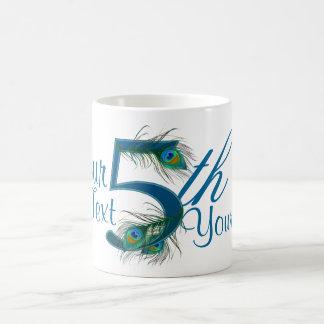 Number 5 or 5th numeric design mugs