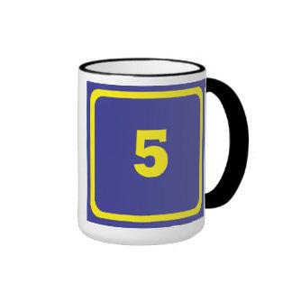 Number 5 ringer mug