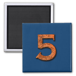 Number 5 Teaching or Memory Aid Magnet