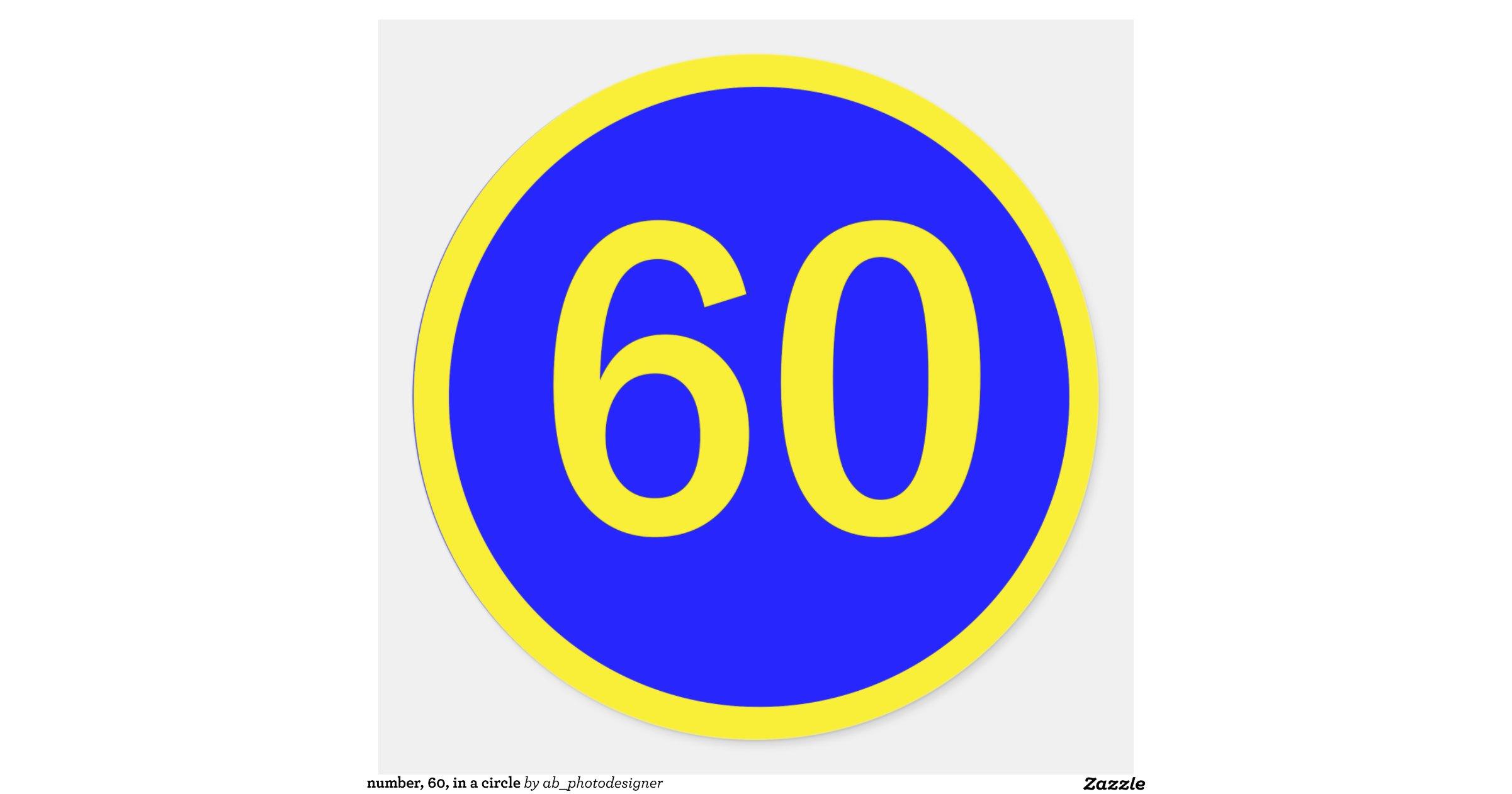 Number60inacircleclassicroundsticker