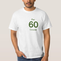 Number 60 par golf course for 60th birthday golfer T-Shirt