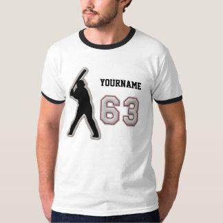 Number 63 Hitter Uniform - Cool Baseball Stitches T Shirt