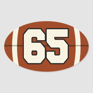 Number 65 Football Sticker