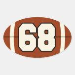 Number 68 Football Sticker