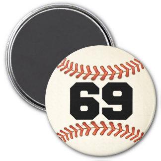 Number 69 Baseball Magnet