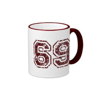 Number 69 ringer coffee mug