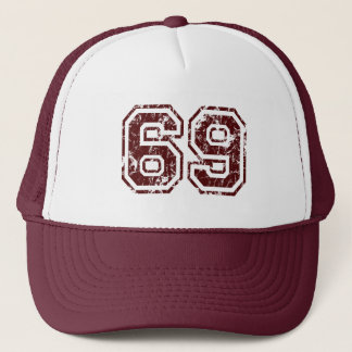 Number 69 trucker hat