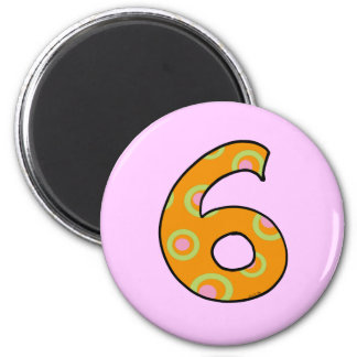 Number 6 2 inch round magnet