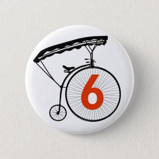 Number 6 Badge - The Prisoner Pinback Button