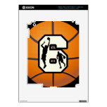 Number 6 Basketball and Players iPad 3 Decals