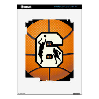 Number 6 Basketball and Players Skins For iPad 3