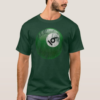 NUMBER 6 BILLIARDS BALL - ERODED STYLE T-Shirt
