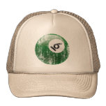 NUMBER 6 BILLIARDS BALL - ERODED STYLE TRUCKER HAT
