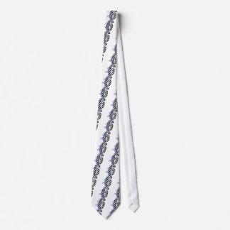 number 6 blue neck tie