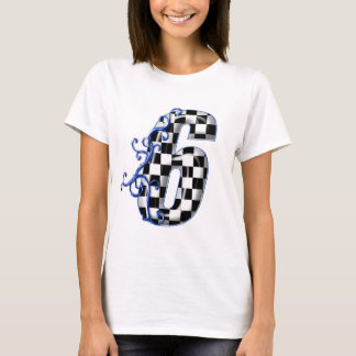 number 6 blue T-Shirt
