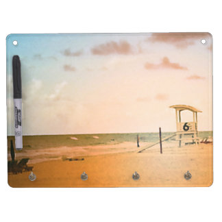 Number 6 Lifeguard Tower Dry Erase Board With Keychain Holder