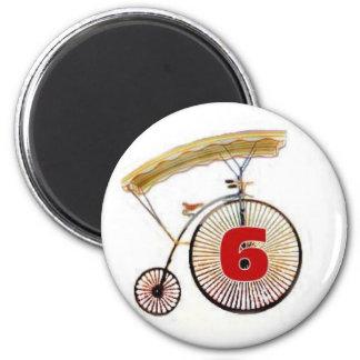 Number 6 magnet