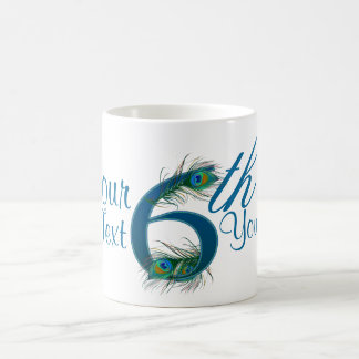 Number 6 or 6th numeric design mugs