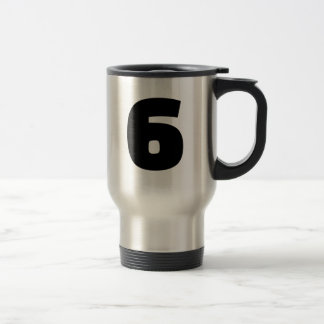Number 6 six 15 oz stainless steel travel mug