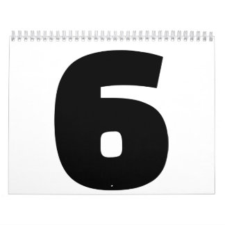 Number 6 six calendar