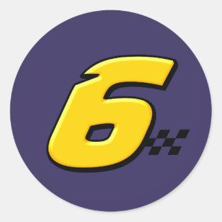 Number 6 - Sticker