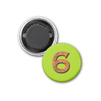 Number 6 Teaching or Memory Aid Magnet