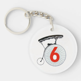 Number 6 The Prisoner Keychain