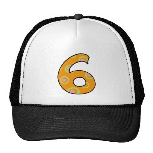 Number 6 trucker hat