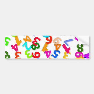 number-70828_1920 LEARNING EDUCATION COLORFUL 3DD Car Bumper Sticker