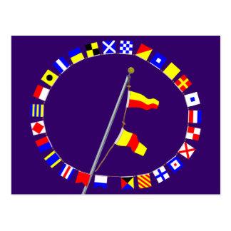 Number 70 Nautical Signal Flag Hoist Post Cards