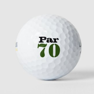 Number 70 par golf course for 70th birthday golfer golf balls