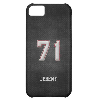 Number 71 Baseball Stitches with Black Metal Look iPhone 5C Cover