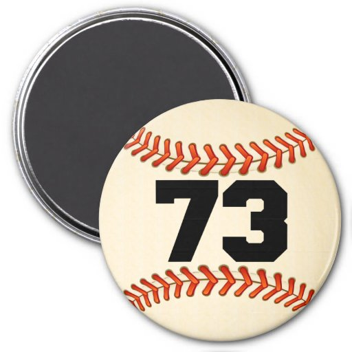 Number 73 Baseball Magnet | Zazzle