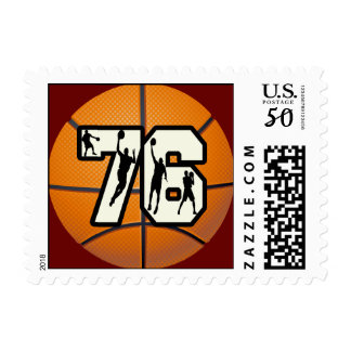Number 76 Basketball Postage