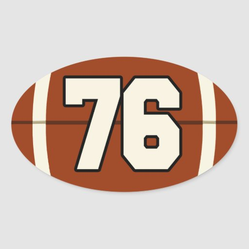 Number 76 Football Sticker : Zazzle