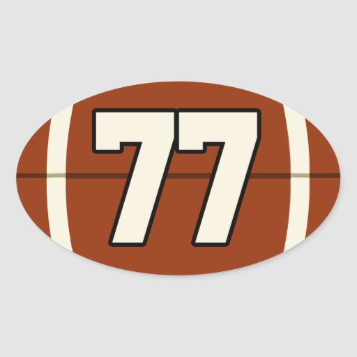 Number 77 Football Sticker | Zazzle Line Designs Art Projects