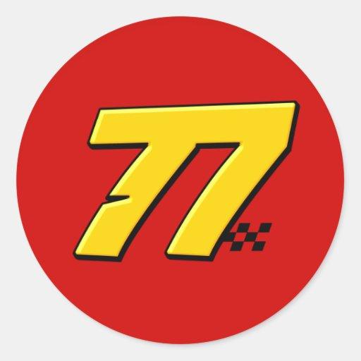 Number 77 - Sticker | Zazzle