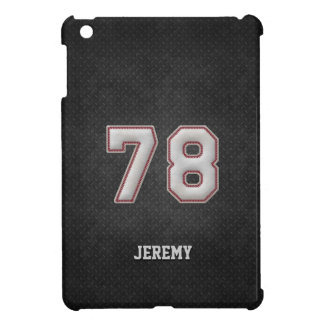 Number 78 Baseball Stitches with Black Metal Look iPad Mini Cases