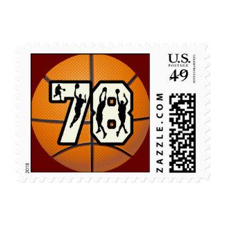 Number 78 Basketball Postage