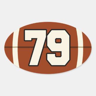 Number 79 Football Sticker