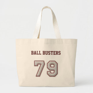 Number 79 with Cool Baseball Stitches Look Canvas Bag