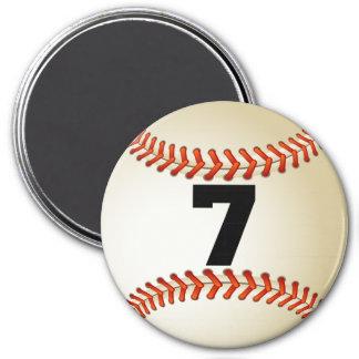 Number 7 Baseball Magnet