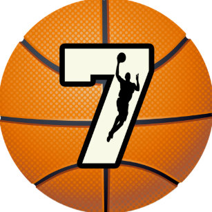 basketball with numbers stickers sticker designs zazzle