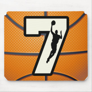 Number 7 Basketball and Player Mouse Pad