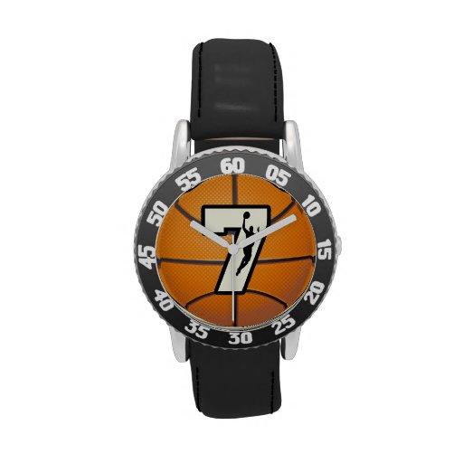 Number 7 Basketball Wristwatch