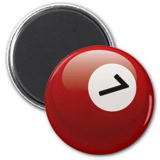 NUMBER 7 BILLIARDS BALL 2 INCH ROUND MAGNET