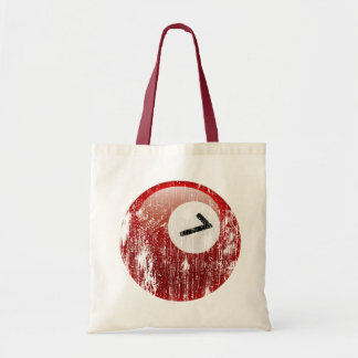 NUMBER 7 BILLIARDS BALL - ERODED AND AGED TOTE BAG