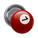 NUMBER 7 BILLIARDS BALL PINBACK BUTTON