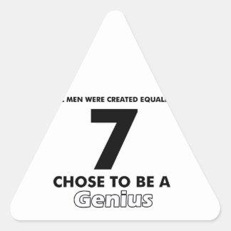 Number 7 designs triangle sticker
